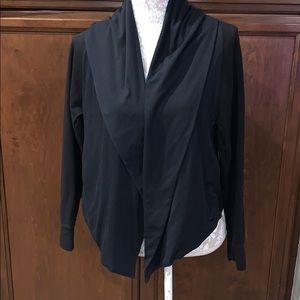 Nike hooded yoga wrap black med